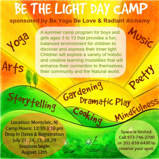 Be the Light Day Camp Montclair 2014